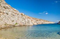 Mgarr-ix-Xini Bucht in Gozo-Insel in Malta Lizenzfreies Stockfoto