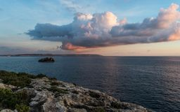 Mgarr Ix-Xini zatoki Gozo wyspa zdjęcie stock