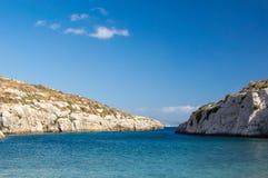 Mgarr ix-Xinifjärd på den Gozo ön i Malta Fotografering för Bildbyråer