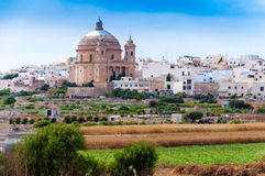Mgarr-Kirche St. Maria in Malta Stockfotos