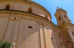 Mgarr-Kirchen-hintere Ansicht Stockbild