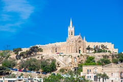 Mgarr, Malta - May 8, 2017: Ghajnsielem Parish Church at Gozo Island at Malta. Ghajnsielem Parish Church at Gozo Island at Malta Royalty Free Stock Images