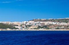 Mgarr, Malta - May 8, 2017: Mgarr at Gozo Island at Malta. Mgarr, Malta - May 8, 2017: Mgarr at Gozo Island at Malta Stock Image