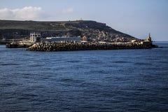 Mgarr Malta pir royaltyfria foton