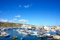 Mgarr port i marina, Gozo Zdjęcia Royalty Free