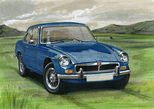MGB GT Royalty Free Stock Photography