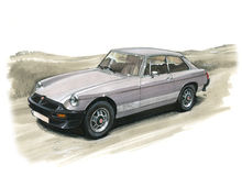 MGB GT LE (limited Edition) Stock Images
