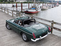 MGB at marina Royalty Free Stock Photo
