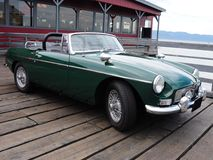MGB parked on a warf Royalty Free Stock Image