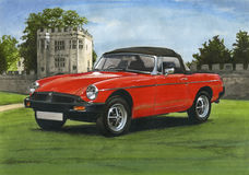 MGB Roadster 1980s. Illustration of a MGB Roadster 1980s Stock Images