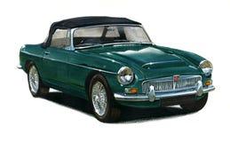 MGB Sportscar royalty-vrije illustratie