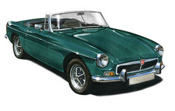 MGB Sportscar Stock Photos