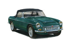 MGC Roadster 1960s 1970s. Illustration of a MGC Roadster 1960s Royalty Free Stock Photos