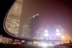 Mgiełka i pył w Szanghaj Chiny Obraz Royalty Free