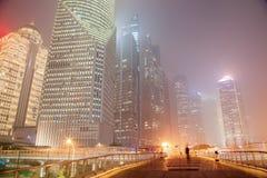 Mgiełka i pył w Szanghaj Chiny Fotografia Stock