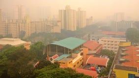 Mgiełka nad lokalową nieruchomością w Singapur Zdjęcia Royalty Free