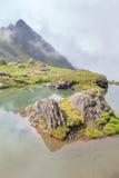 Mgiełka nad wyspą Zdjęcia Royalty Free