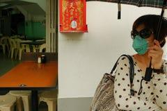 Mgiełka Powodować Indonezyjskimi pożarami lasu w Singapur i Malezja Obrazy Royalty Free