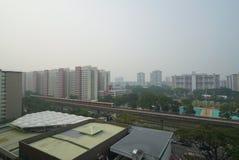 Mgiełki zanieczyszczenie w Singapur Obraz Stock