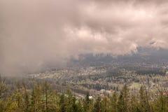 mgieł góry Zdjęcie Stock