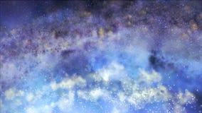 Mgliści grona w oszczędzonym Galaxy w przestrzeni royalty ilustracja
