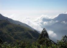 Mgliste góry Kerala Zdjęcia Royalty Free