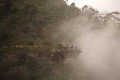 Mgliste góry Sceniczne Zdjęcie Royalty Free