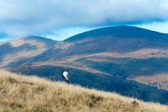 mglisty jesień widok górski fotografia stock