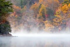 mglisty poranek jesieni Obraz Royalty Free
