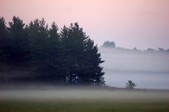 mglisty poranek w Wisconsin Obrazy Royalty Free
