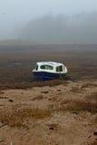 Mglisty ranek, Alnmouth plaża, Northumberland zdjęcie royalty free