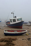 Mglisty ranek, Alnmouth plaża, Northumberland obraz royalty free