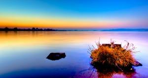 Mglisty ranku wschód słońca Fotografia Royalty Free