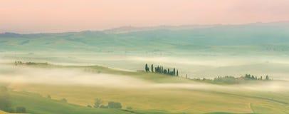 mglisty Tuscany Zdjęcia Royalty Free