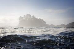 mglisty wyspa ocean Obraz Stock