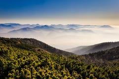 Mglistych gór krajobrazowy widok obraz royalty free