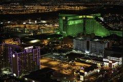 MGM Grand娱乐场和旅馆在晚上 免版税图库摄影