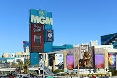 MGM Grand拉斯维加斯,拉斯维加斯, NV 免版税库存照片