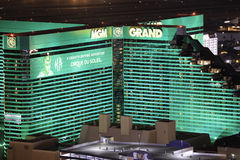 MGM Grand Casino and Hotel. The MGM Grand Las Vegas is a hotel casino located on the Las Vegas Strip in Paradise, Nevada. The MGM Grand is the third largest Stock Photo