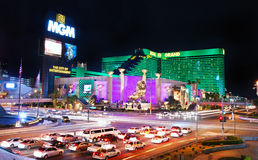 MGM Grand Hotel in Las Vegas stock photography