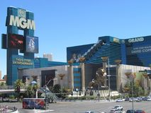 MGM Grand Hotel in Las Vegas royalty free stock photo