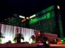 Mgm Grand kasinohotell i Las Vegas på natten fotografering för bildbyråer