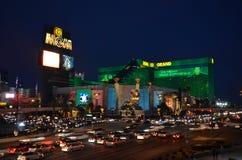 Mgm Grand, la tira, zona metropolitana, noche, ciudad, señal imagen de archivo