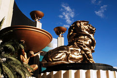 MGM Grand Las Vegas. Detail of MGM Grand Las Vegas Stock Photo