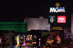 Mgm Grand, Las Vegas, Nacht, Stadt, Ballungsraum, elektronischer Signage Lizenzfreie Stockfotografie