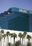 MGM Grand Las Vegas vertical. The historic MGM Grand on the Las Vegas Strip is shown during the day Stock Photo