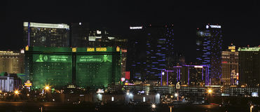 An MGM Grand View from McCarran International Airport Royalty Free Stock Images