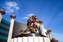 MGM Hotel Lion Royalty Free Stock Photos