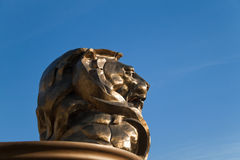 MGM Hotel Lion. December 30th, 2009 - Las Vegas, Nevada, USA - The MGM Hotel and Casino lions head, which is to bring good luck and is the entrance to the hotel Stock Photos