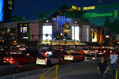 MGM by night. A look at the MGM by night Stock Photos